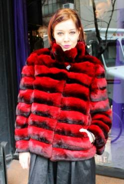 Marc Kaufman Furs presents a red chinchilla fur jacket from Marc Kaufman Furs New York City,from Marc Kaufman Furs New York,Fur coats in Argentina, fur coats in Chile, fur coats in Venezuela, fur coats in Australia, fur coats in Belgium,fur coats in Netherlands, fur coats in Norway,fur coats in Sweden,fur coats in Dubais,fur coats in Egypt,fur coats in Egypt,fur coats in Kuwait, fur coats in South Africa,fur coats in Tunisia,fur coats in the Falklands