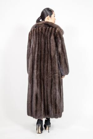 Amazing Full Length Russian Sable Coat Wing Collar