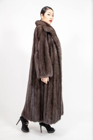 Amazing Full Length Russian Sable Coat Wing Collar usa