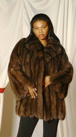Russian Sable Fur jacket Wide Sleeves