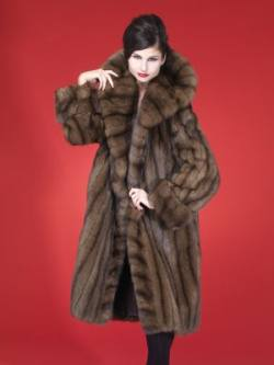 Fabulous Russian Sable Fur Stroller Cape Collar Made USA