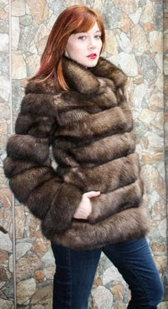 Casual Russian sable Fur jacket