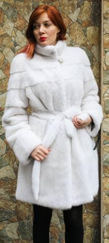 Amazing Belted White Mink Fur Stroller Designer Furs Marc Kaufman ...