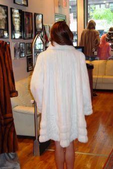 White MInk Swing Fur Stroller