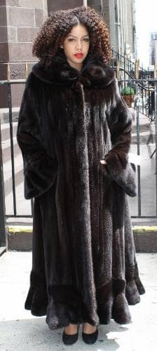 Plus Size Designer Mahogany Female Mink Coat 6523 | MARC KAUFMAN FURS