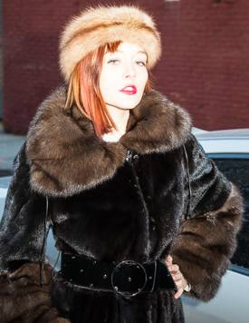 Blackglama Mink Coat Russian Sable Collar Cuffs