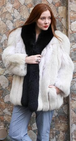 Norwegian Snow Top Fox Fur Jacket 8822 Image