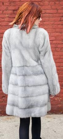 Classy Sapphire Mink Fur Stroller Horizontal Bottom Marc Kaufman Furs NYC