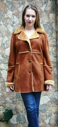 Camel Shearling Fur Jacket 1212 Image