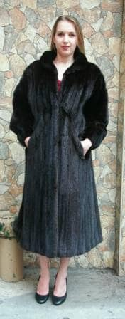 Full Length Ranch Mink Fur Coat 7991 Image