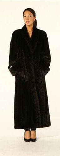 Elegant Classic Full Length Mink Coat Marc Kaufman Furs NYC Fur Store Baltimore Chicago Cleveland Detroit