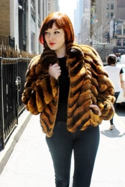 Marc Kaufman Furs presents a whiskey chinchilla fur jacket from Marc Kaufman Furs New York City,Fur coats in Argentina, fur coats in Chile, fur coats in Venezuela, fur coats in Australia, fur coats in Belgium,fur coats in Netherlands, fur coats in Norway,fur coats in Sweden,fur coats in Dubais,fur coats in Egypt,fur coats in Egypt,fur coats in Kuwait, fur coats in South Africa,fur coats in Tunisia,fur coats in the Falklands