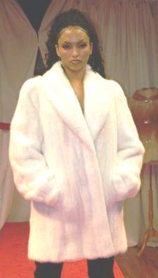 Beautiful White Mink Fur Stroller