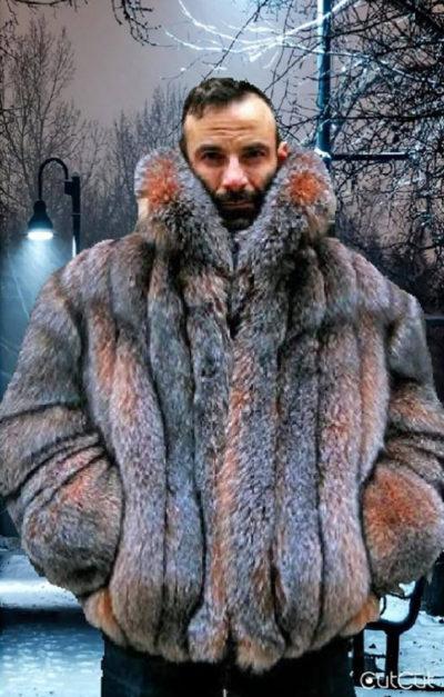 4f3645010af Crystal Fox Men s Fur Bomber Jacket 9002