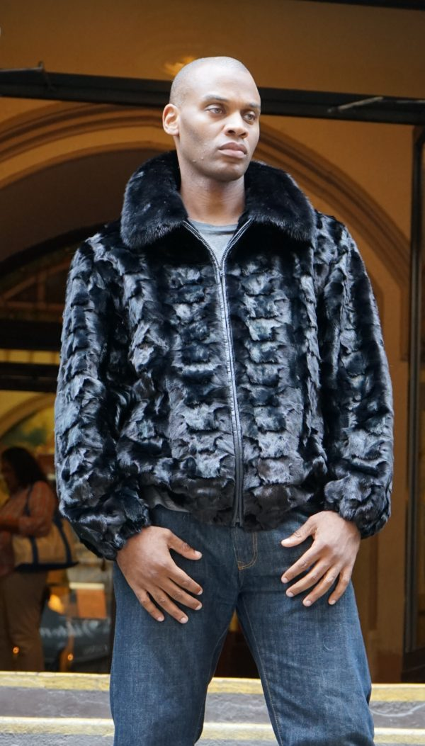 Diamond Cut Mink Bomber Jacket