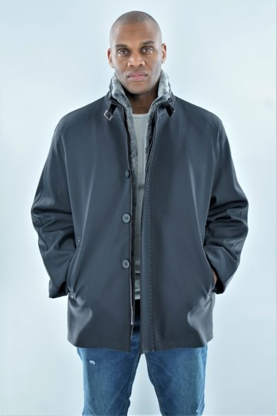 Men's Microfiber Jacket Shearling Lining
