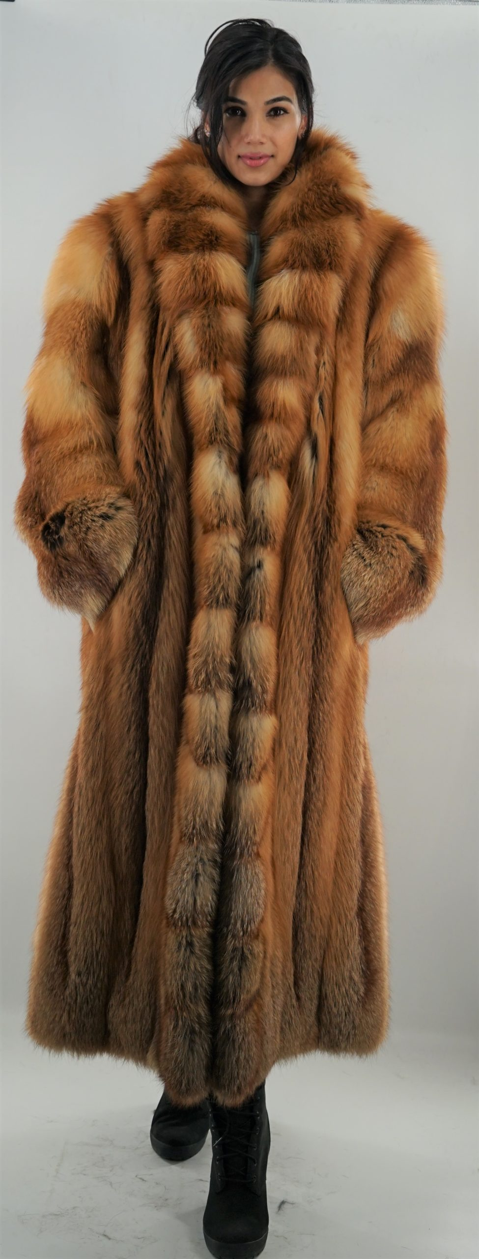 Full Length Red Fox Fur Coat Fur