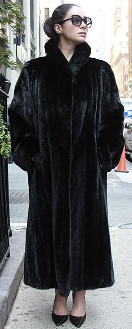 Black Mink Fur Coat