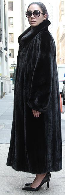 full length black mink coat