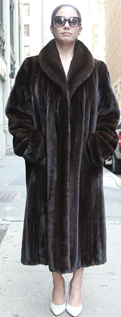 Full length Mahogany MInk Coat