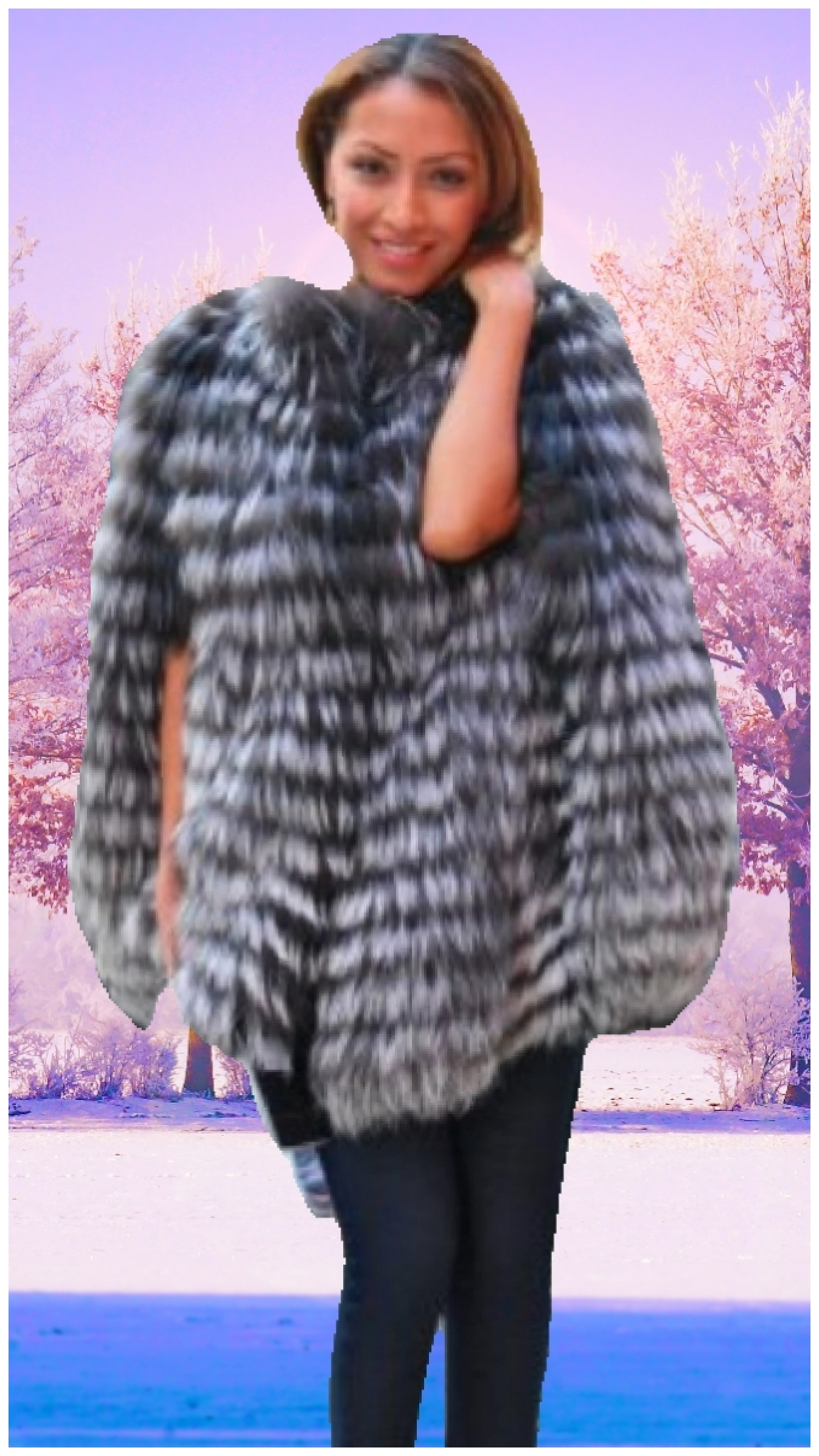 fox fur capes