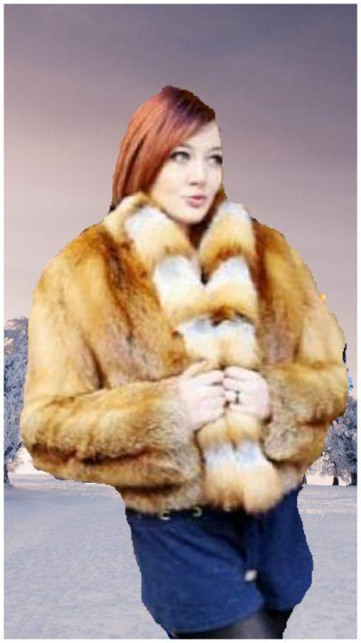 red fox fur jacket