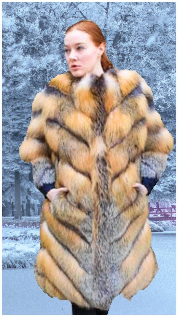 cross fox fur stroller