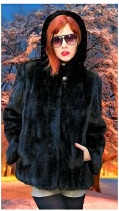 black ranch mink furs