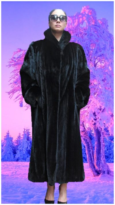 designer ranch mink fur coat