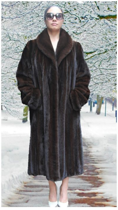 mahogany mink fur coat
