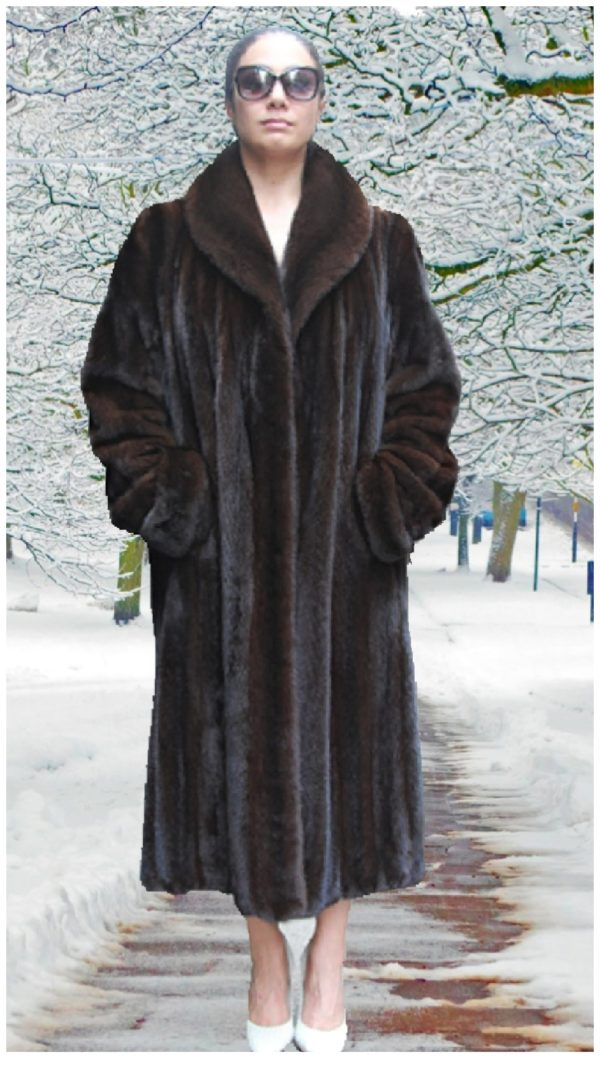 mahogany mink fur coat
