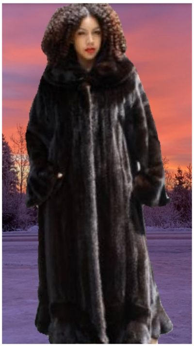 plus size ranch mink fur coat