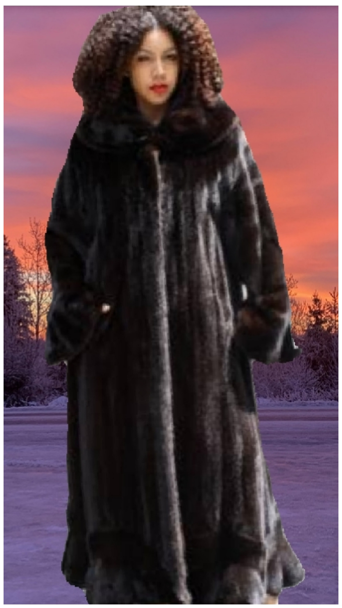 plus size ranch mink fur coat