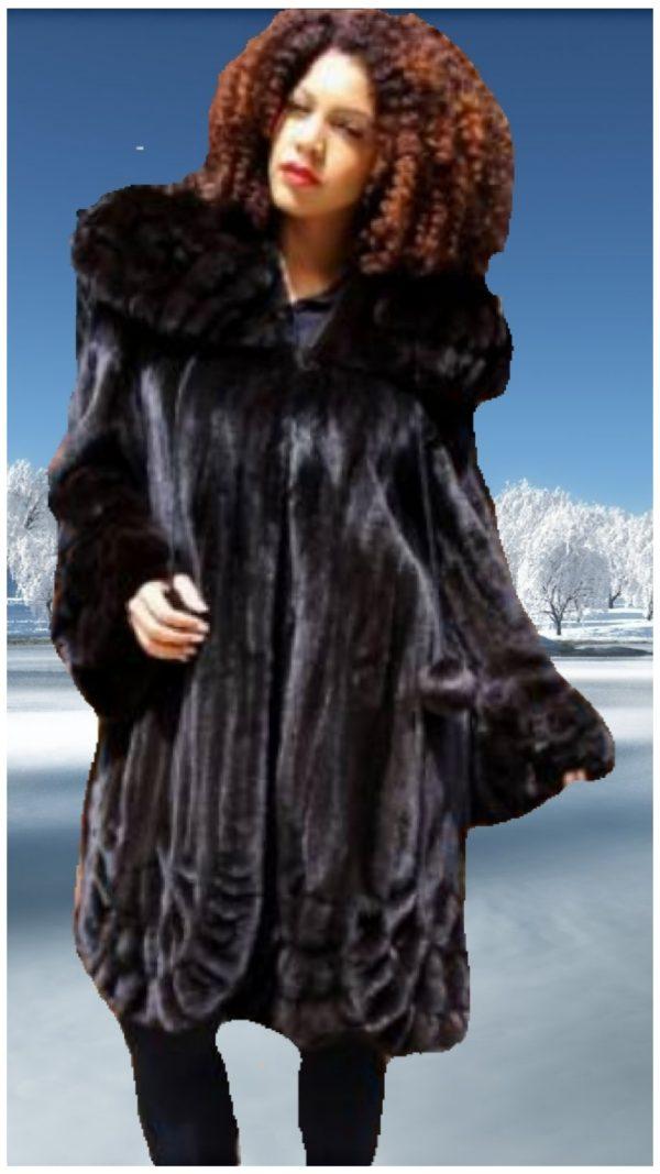 plus size ranch mink fur swing stroller