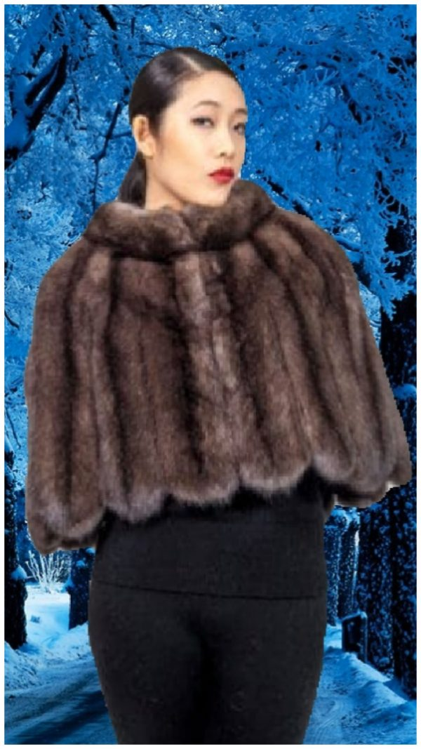 russian sable fur evening cape