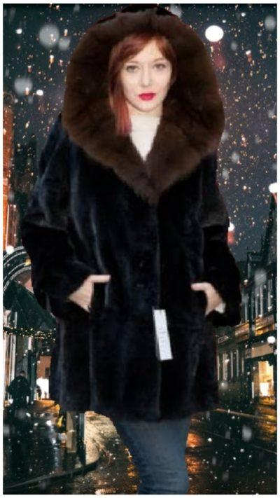 blackglama mink stroller russian sable fur lined hood