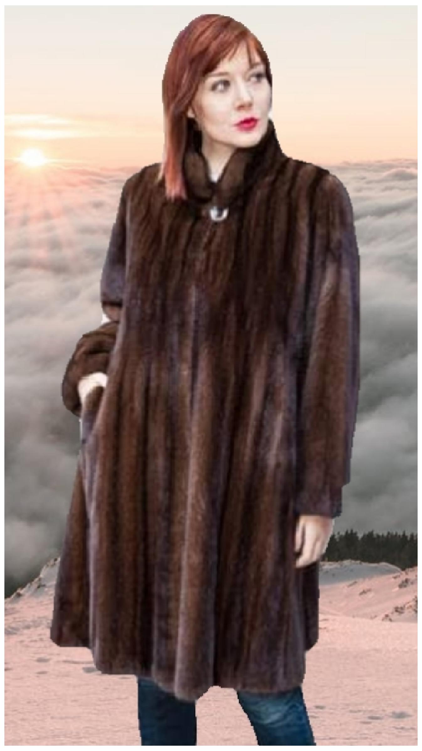classic demi mink fur stroller
