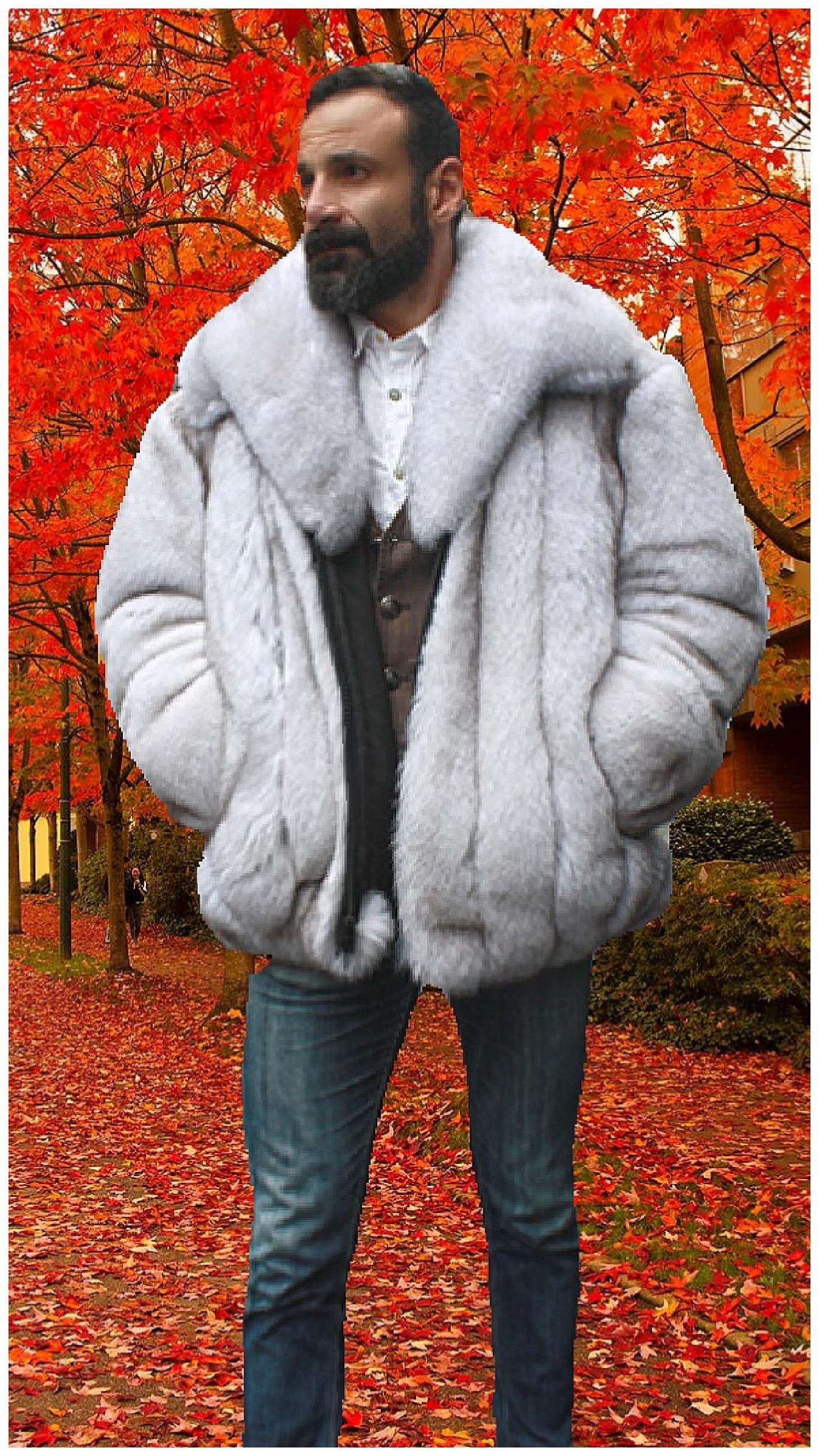 6a29232063 fur bomber jackets. Blue Fox Fur Mens Bomber Jacket Marc Kaufman Furs