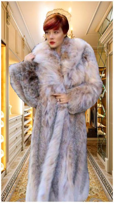 Full Length Canadian Lynx Coat