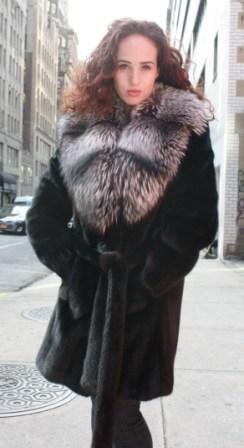 Marc Kaufman Furs Presents a ranch mink fur jacket with silver fox fur collar from Marc Kaufman Furs New York,Argentina,United Kingdom,Austria,Denmark,Norway,Australia,Finland,Saudi Arabia,Oman,Kuwait,Jordan,Egypt