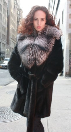 Marc Kaufman Furs Presents a ranch mink fur jacket with silver fox fur collar from Marc Kaufman Furs New York,Argentina,United Kingdom,Austria,Denmark,Norway,Australia,Finland,Saudi Arabia,Oman,Kuwait,Jordan,Egypt