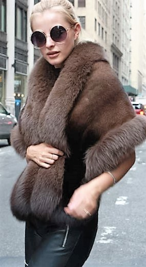 Marc Kaufman Furs Presents a brown mink fur stole with fox fur trim from Marc Kaufman Furs New York,Argentina,United Kingdom,Austria,Denmark,Norway,Australia,Finland,Saudi Arabia,Oman,Kuwait,Jordan,Egypt