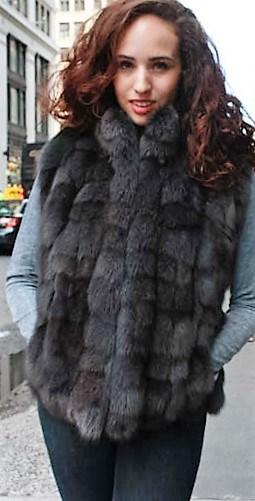 Marc Kaufman Furs Presents a gray fox fur diamond vest from Marc Kaufman Furs New York,Argentina,United Kingdom,Austria,Denmark,Norway,Australia,Finland,Saudi Arabia,Oman,Kuwait,Jordan,Egypt