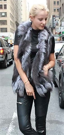 Marc Kaufman Furs Presents a silver fox fur section vest from Marc Kaufman Furs New York,Argentina,United Kingdom,Austria,Denmark,Norway,Australia,Finland,Saudi Arabia,Oman,Kuwait,Jordan,Egypt