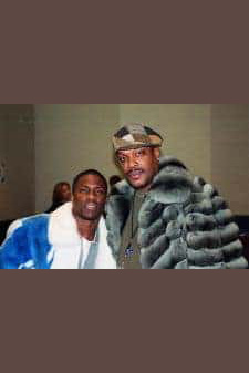 Kevin Hart Blue White Mink Fur jacket Savior Bacote