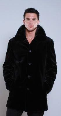 Men's Fur Black Sheared Mink Stroller
