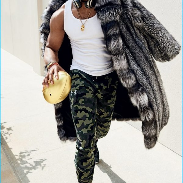 Cam Newton Silver Fox Fur Coat GQ Magazine
