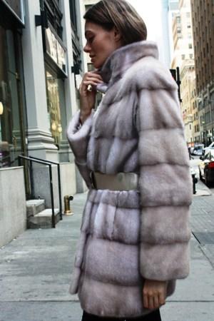 Magnificent Rovalia mink Fur Stroller Belt