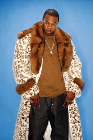 Busta Rhymes Lynx Dyed Mink Coat Sable Fur Collar
