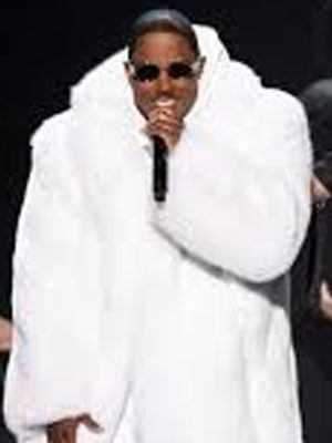 Mase White Fox Fur Coat